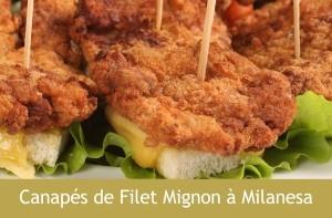 Canapés de Filet Mignon à Milanesa