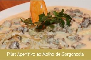 Filet Aperitivo ao Molho de Gorgonzola